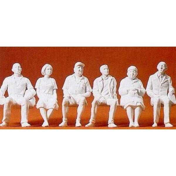 Sitzen Reisende 6 Figuren