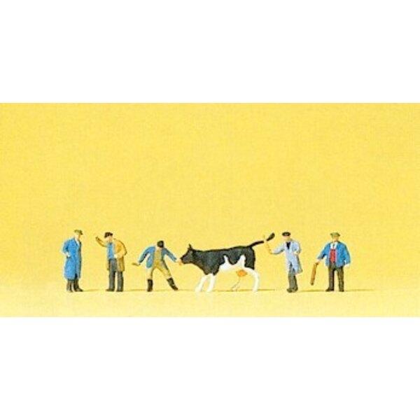 Vieh auf den Markt mit Preis