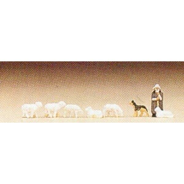 Schafe mit Hirten