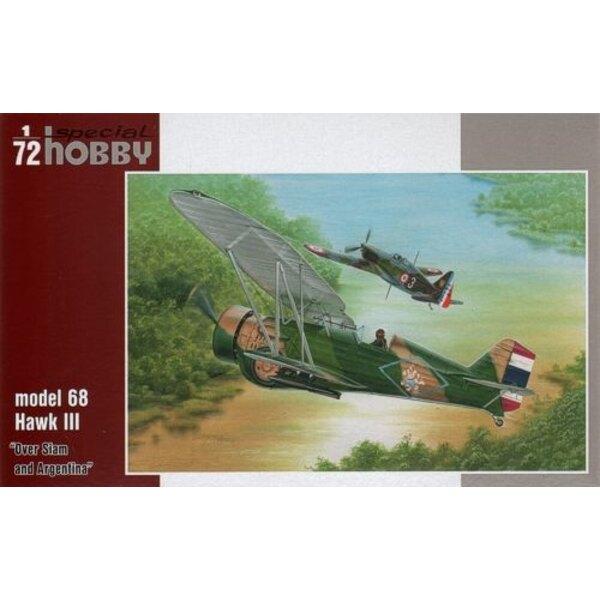 Curtiss Modell 68 Hawk III Aufkleber 'Over Siam und Silberiniens (Curtiss bf2c Goshawk)