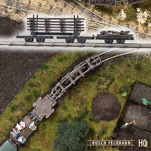 Rungenwagen mit Schienen-und Plattform-Wagen mit Nabe geladen