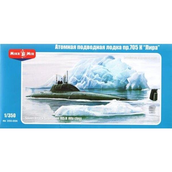 Sowjetischen Angriff U-Boot 705K Alfa (Lira)