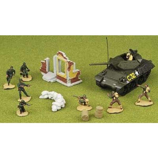1:72 M10 & US-Soldat Set