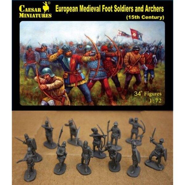 European Medieval Fußsoldaten und Bogenkämpfers, 15. Jahrhundert