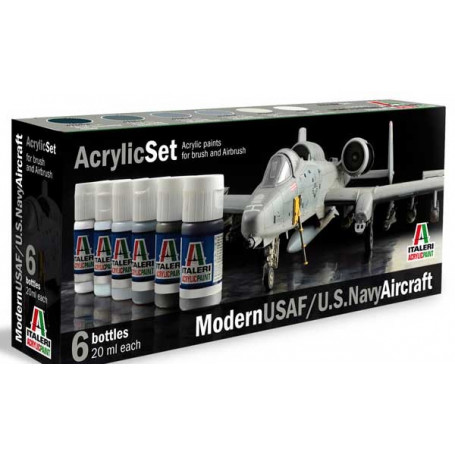 Set Paintings Moderne US Aircraft