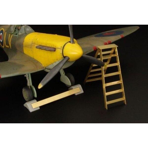 Britische Radbremsblock + Leiter Harz Zubehör für RAF Flugzeuge
