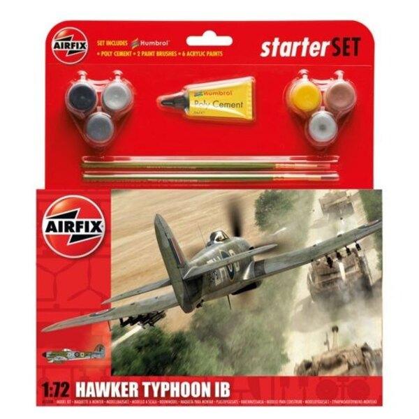 Hawker Typhoon Starter Set beinhaltet Acrylfarben, Pinsel und Poly Zement