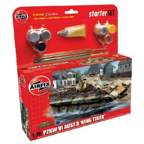 King Tiger Starter Set : beinhaltet Acrylfarben, Pinsel und Polyzement
