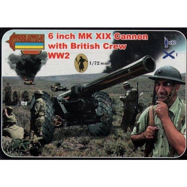 6 Inch Mk.XIX Kanone mit britischen Besatzung (2.WK) Strelets Arme setzt