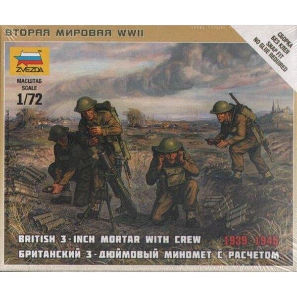 Britische Mörser + Besatzung
