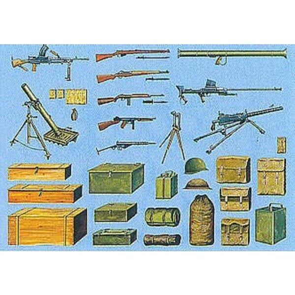 Allierte Gewehre, Mörtel, Packs, Helme Kisten, etc # 1 (2.WK)