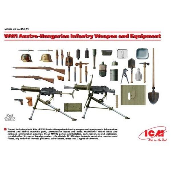 WWI österreichisch-ungarischen Infanterie Waffe und Ausrüstung 1/35 - ICM M35671