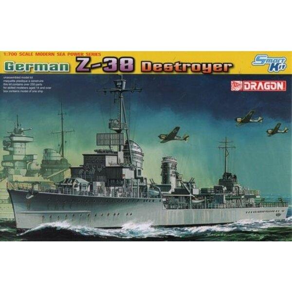 Deutsch Z-38 Destroyer 1/700 - Drache 7134