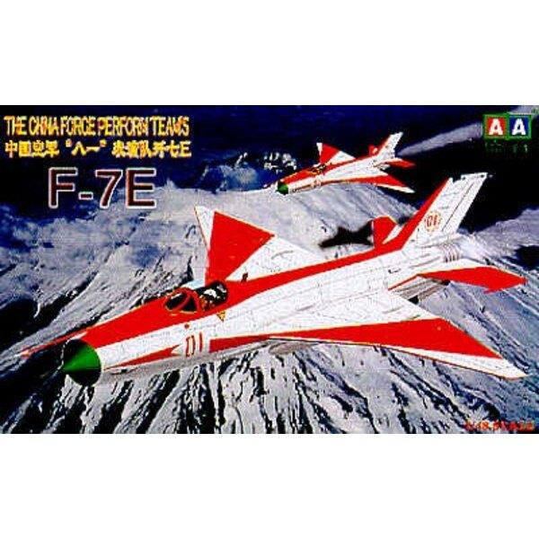 Chengdu F-7E (neuere Version mit Flügel des gekröpften Pfeils)