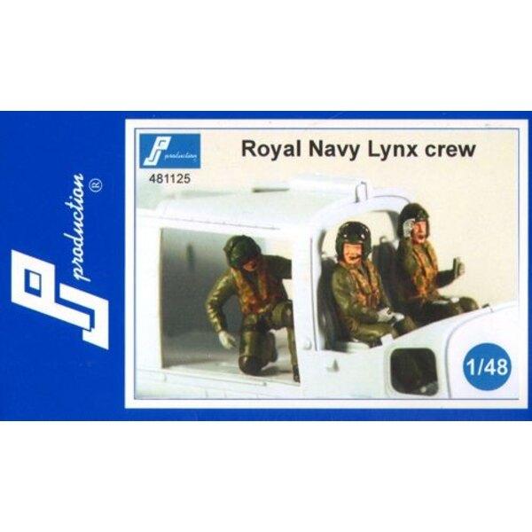 Royal Navy Lynx Mannschaft. Die Box enthält drei Figuren im Flug Multidrive All die beiden Piloten und ein drittes Element an de