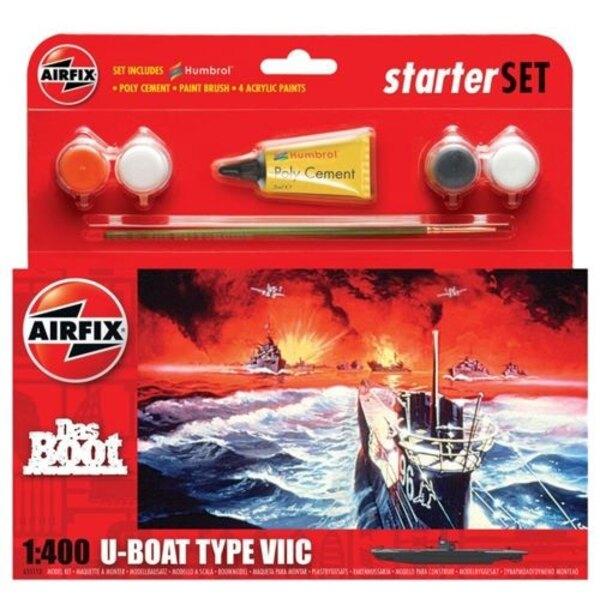 Das Boot U- Boot Typ VII C Starter Set enthält Acrylfarben , Pinsel und Poly Zement