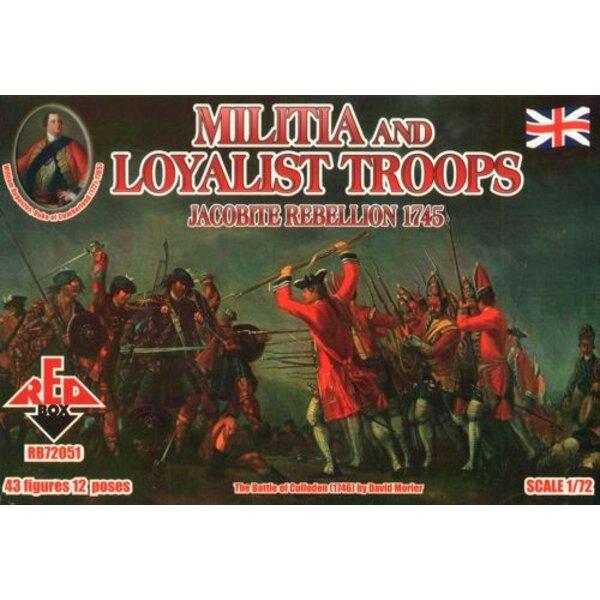 Jakobitenaufstand und Loyalist Miliztruppen