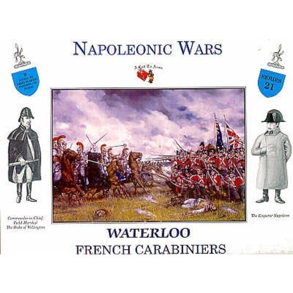 Waterloo-Französisch Carabiniers 4 Figuren zu Pferd