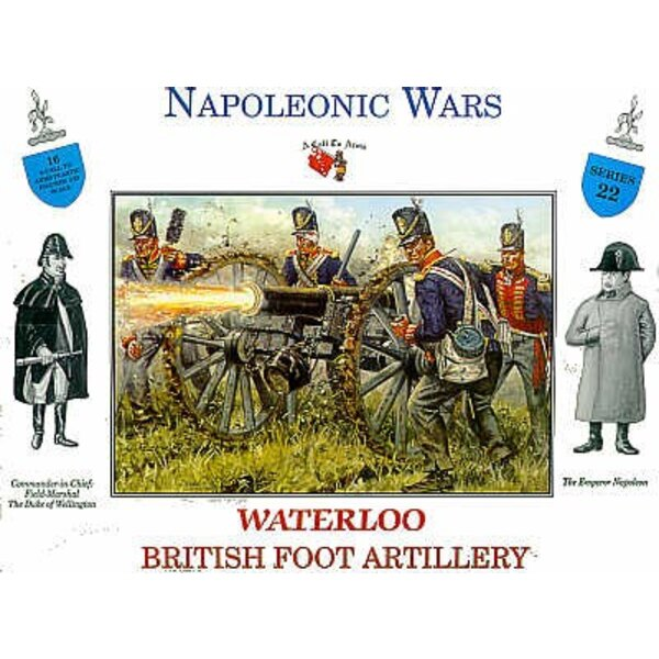 Britische Fußartillerie Waterloo 16 Figuren