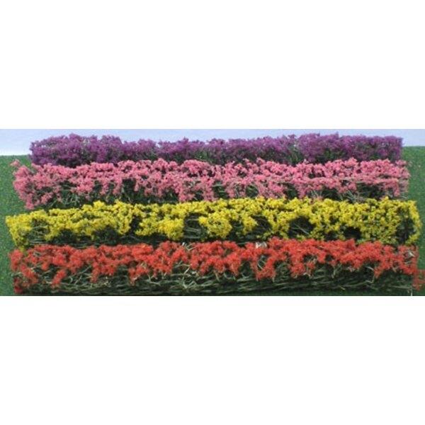Heckenpflanzen verschiedenen bunten 125x9x15mm - HO SCALE