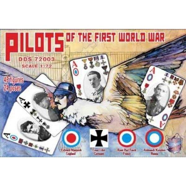 WWI Piloten. Bitte sehen Sie die Bilder für die 48 Figuren Viele verschiedene Posen. 24 Posen. Englisch, Deutsch , Französisch ,