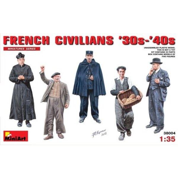 Französisch Zivilisten 30s - 40s