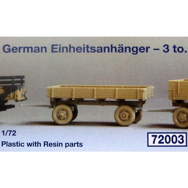 Deutsch 3000 Einheitsanhanger -3 Standard- tonnen Anhänger. In Kunststoff mit 4 Resin Teile