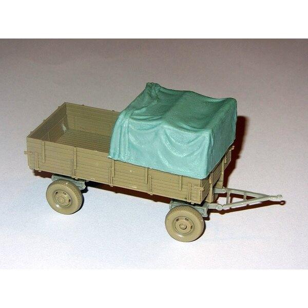 Planenabdeckung für 4500 Mercedes pritsche SCH72003 oder 3 tonnen Einheitsanhänger Verdeckdesigned mit Schatton Modellbau Kits v
