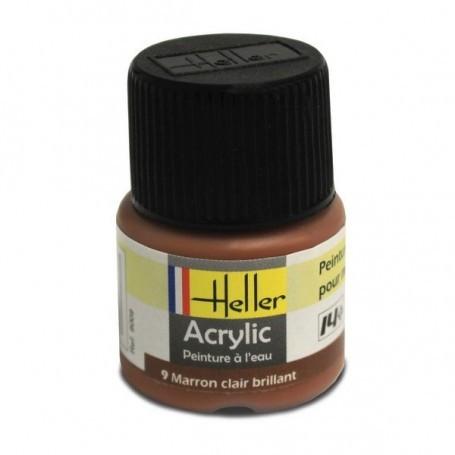Hellbraun Acryl, glänzend, glänzend, 12ml