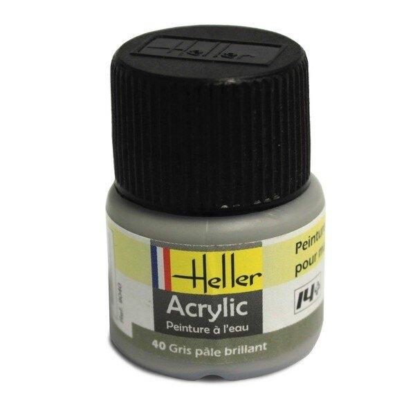 Hellgrau Acryl, glänzend, glänzend, 12ml