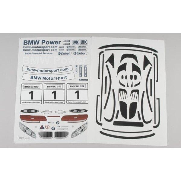 BMW M3 ALMS Aufkleber
