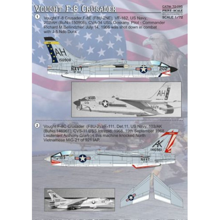 Decal Vought F-8 Crusader