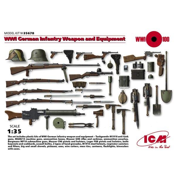WWI Deutsche Infanterie-Waffen und Ausrüstung
