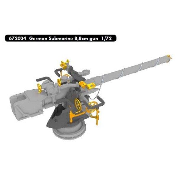 Deutsch Submarine 8,8 cm Kanone (entwickelt, um mit Revell Kits verwendet werden)
