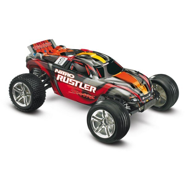 RUSTLER NITRO: NITRO-POWERED 1/10-scale 2WD STADIUM TRUCK