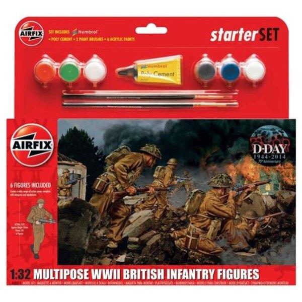 Britische Infanterie WWII Multiple-up-Geschenk-Set