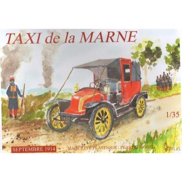 Taxi De La Marne.September 1914. 600 von ihnen waren Paris Renault Taxis beschlagnahmt, um Truppen in Not Jahr tragen, als die