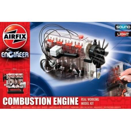 Innerer Verbrennungsmotor. Echter Arbeitsmusterbausatz. Mit Licht und Ton. Dieser fantastische Motor ist eine große Weise, alle