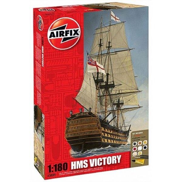 HMS Victory. Set beinhaltet 8 Acrylfarben, 2 Bürsten und 2 Kleber