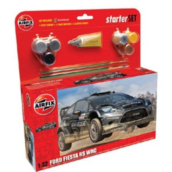 Ford Fiesta WRC Set pour débutant comprenant la peinture acrylique, le pinceau et la colle