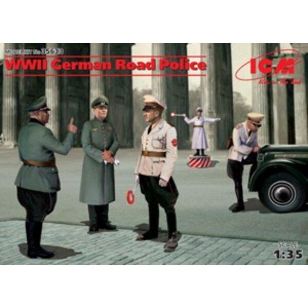 WWII deutsche Straße Police4 Zahlen