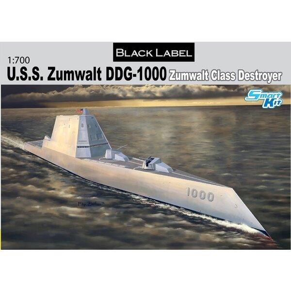 USS Zumwalt DDG-1000 Zumwalt-Klasse Lenkwaffenzerstörer (Black Label Series)