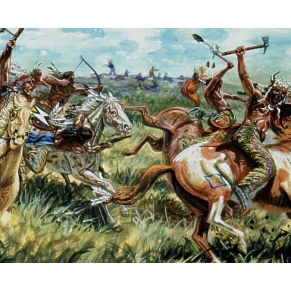 Sioux Inder zu Pferde (12 zu Pferde Figuren)