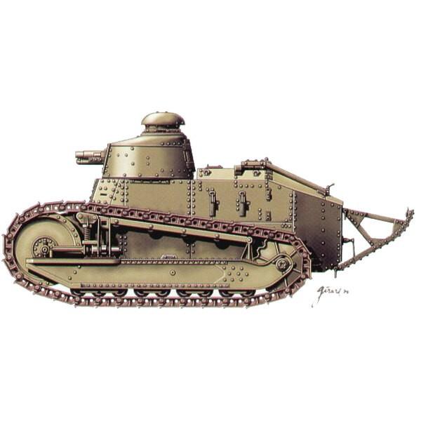 2 x WWI Renault FT-17 mit Kanone von 37mm