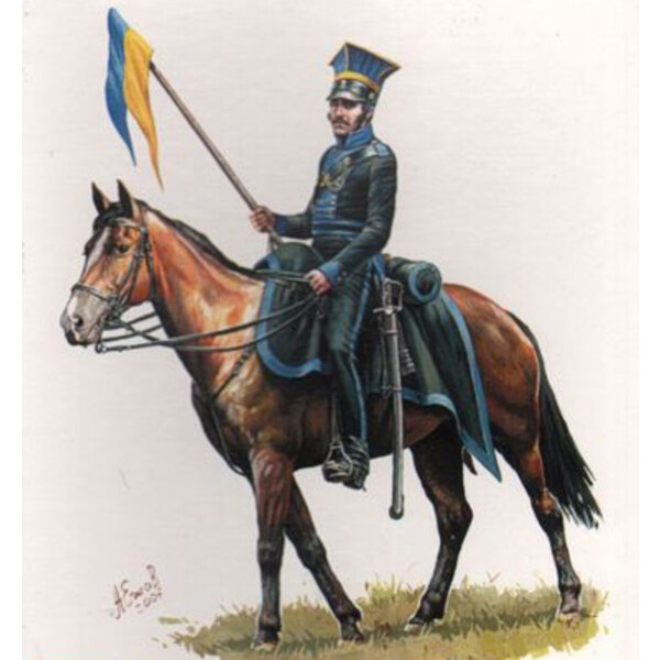 Braunswick Kavallerie napoleonischen x 12 montiert Figuren