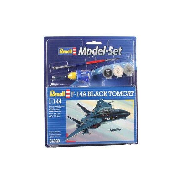 F14A Black Tomcat Model Set - coffret contenant la maquette, les peintures, pinceau et colle