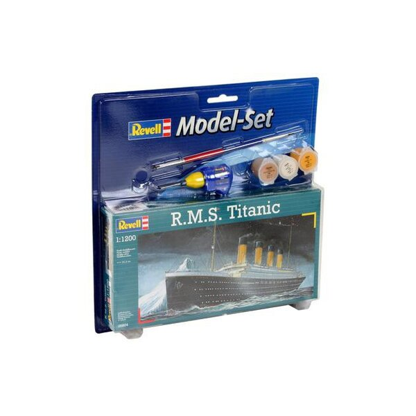 RMS Titanic Model Set - Geschenkbox beinhaltet das Modell, die Farben, ein Pinsel und Kleber