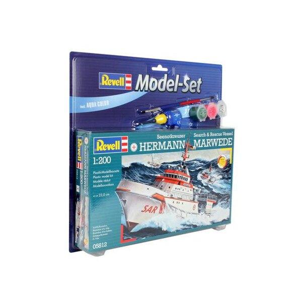 Dgzrs Hermann Marwede Model Set - coffret contenant la maquette, les peintures, pinceau et colle
