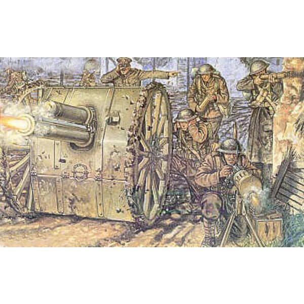 1.WK Briten-Artillerie und 18 pdr Kanone