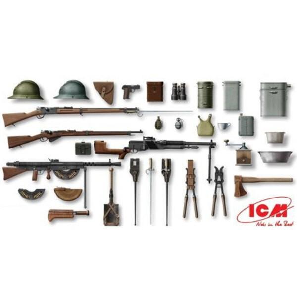 WWI Französisch Infanterie Waffen und Ausrüstung